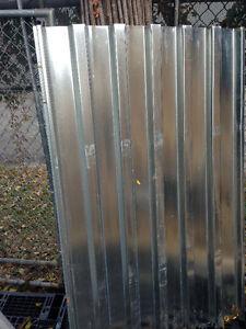 22 Gauge steel roofing/siding panels. - $90
