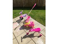 Scuttle bug and outdoor wheeled toys