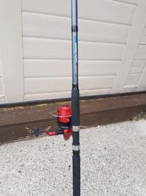 Sea fishing rod and reel