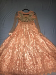 Girls Beautiful Pakistani Lace Gown Perfect for Eid/Wedding