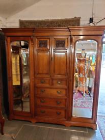 Large Victorian Combination Wardrobe