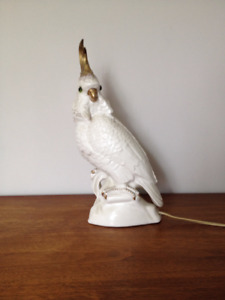 Vintage or Antique Cockatoo Table Lamp