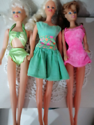 Set 3 barbie complete di vestiti e accessori