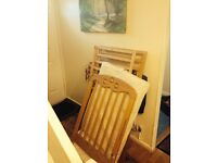 Solid mothercare cot & mattress