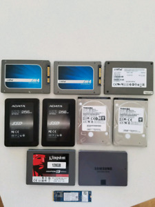 SSD hard drives / disques durs SSD