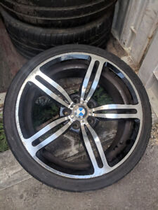 Set of 4 BMW M5 rims with tires - $900 OBO