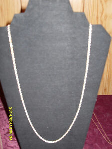 """Sterling silver (925) 26"""" heavy twisted rope style chain."""