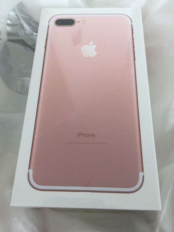 brand new apple iphone 7 plus rose gold 128gb boxed sealed in poplar london gumtree. Black Bedroom Furniture Sets. Home Design Ideas