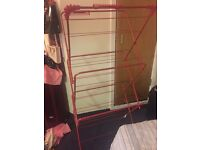 clothes hanger red