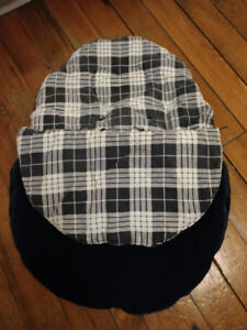 Jolly Jumper Cuddle Bag Car Seat Cover Navy Blue/Plaid