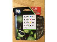 HP 4pk 920XL ink cartridges