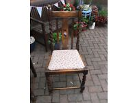VINTAGE CHAIR WITH BARLEY TWIST DETAIL