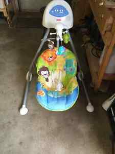 Swing and play seat