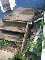 New outdoor steps needed