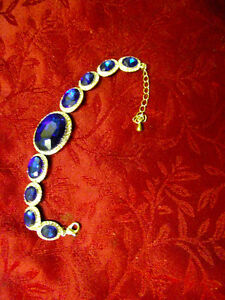 Custom Designed Sapphire Swarovski-Crystal Elements Bracelet