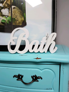 Wooden word/name signs