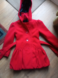 Next girls winter duffle hooded coat jacket age 4 - 5 years