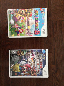 Mario Party 8 and Super Smash Bros. Brawl for Wii
