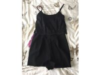 Size 8 new look black lace detail play suit