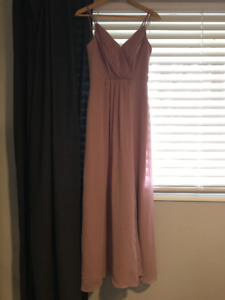 David's Bridal Long Bridesmaid Dress Size 0