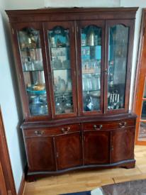 Mahogany Glass display cabinet and storage