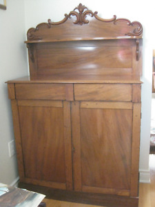 Gorgeous antique mahogany buffet cabinet