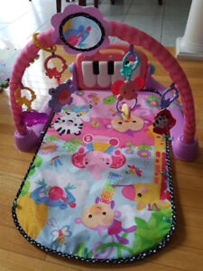 Fisher-Price Kick and Play Piano Gym-Pink