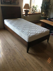 COMBO: MATELAS SIMPLE + CADRE | SINGLE MATTRESS + BEDFRAME