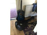 Blue guitar excellent condition