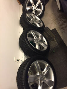 "17"" Veloster Rims With Hankook Studded Winter Tires 5x114.3"