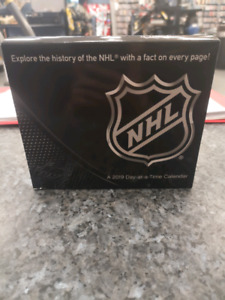 2019 NHL Calender with a fact on each page