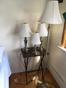 Table Lamps and Accent Lamp plus floor lamp