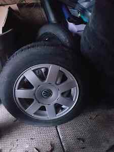 "15"" VW rims  with 1 year old all season tires  400 obo"