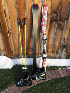 Junior ski package (skis + poles + boots)