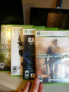 Call of duty (cod) games, 4 for $40 or 1 for $15