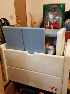 Little Tikes toy box and book shelf