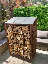 Log store, logs, kindling storage, garden feature, wood store