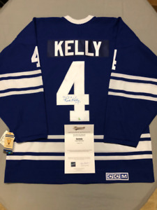 Signed Licensed NHL Jersey with COA: Maple Leafs - RED KELLY