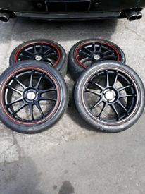 cades 4x100 mazda honda vw rover vauxhall alloy wheels mint