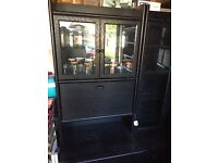 Set of 3 shelves cabinets (1 X book shelf and 2 X black cabinet set