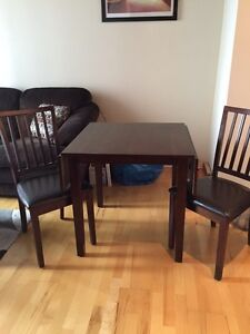 Brown kitchen table