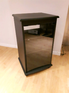 "Audio rack 36"" high 21 "" deep and 20 "" large"
