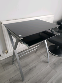 Dressing table with slide out surface