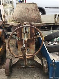 Diesel cement mixer in good working order