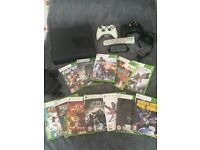 Xbox 360 slim with 12 games