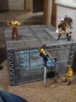 WWE Hell in a Cell with figures
