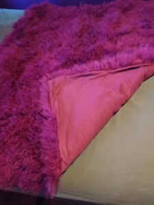 Luxury throw blanket real Angora fur - Couverture jetté de luxe