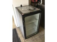 Good quality silver and black bottle chiller display fridge