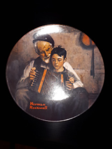 Norman Rockwell/Edwin Knowles 4 Collector Plates