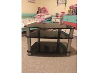 "Black Hardened Glass TV Stand (suits up to 42"" TV)"